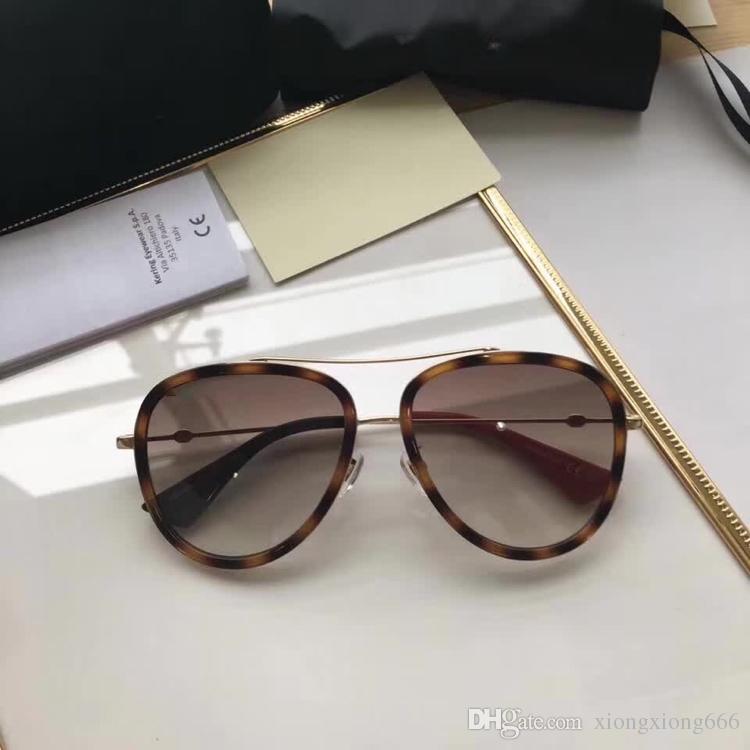 e3dfb10cac Compre Gucci GG0062 Mujeres Diseñador De La Marca Roberto Estampado De  Serpiente Marrón Oscuro Dorado Marrón Gafas De Sol De Lujo Protección UV  Redondo ...