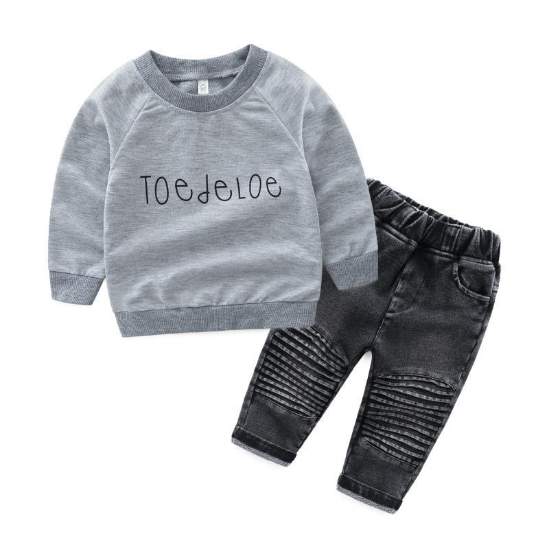 de1809463d0c5 Acheter Vêtements Pour Bébé Garçon Ensemble De Produits Pour Enfants  Vêtements Pour Bébés T Shirts + Jeans Pantalons Survêtement A De  24.0 Du  Universecp ...