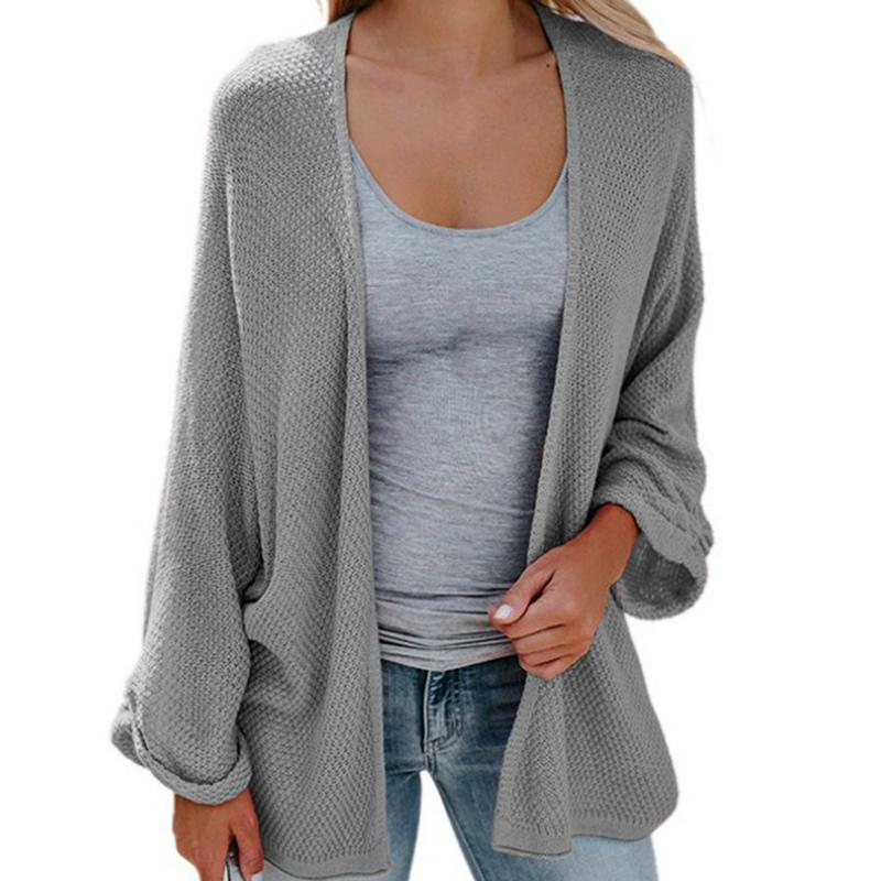 1fdbc1f8643b3 2019 Women S Plus Size Sweater Cardigans Long Sleeve Batwing Sleeve Loose  Knitting Cardigans From Fabian05