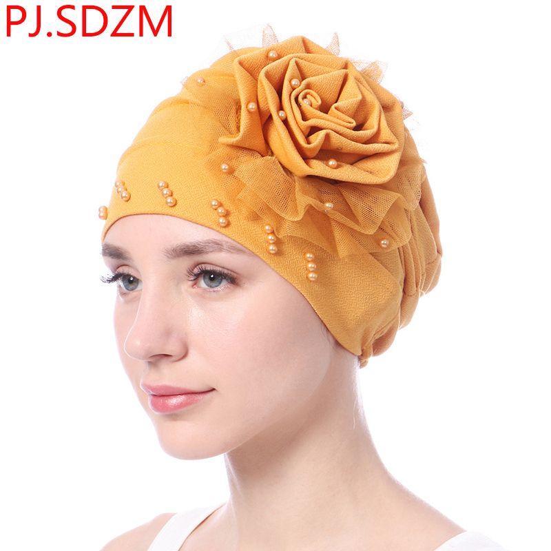 SDZM Flower Lace Beaded Muslim Turban Headband For Women Headscarf Hair  Bands Hat Head Wrap Bandana Headwear UK 2019 From Diannecklace 0fc9cdc6b58