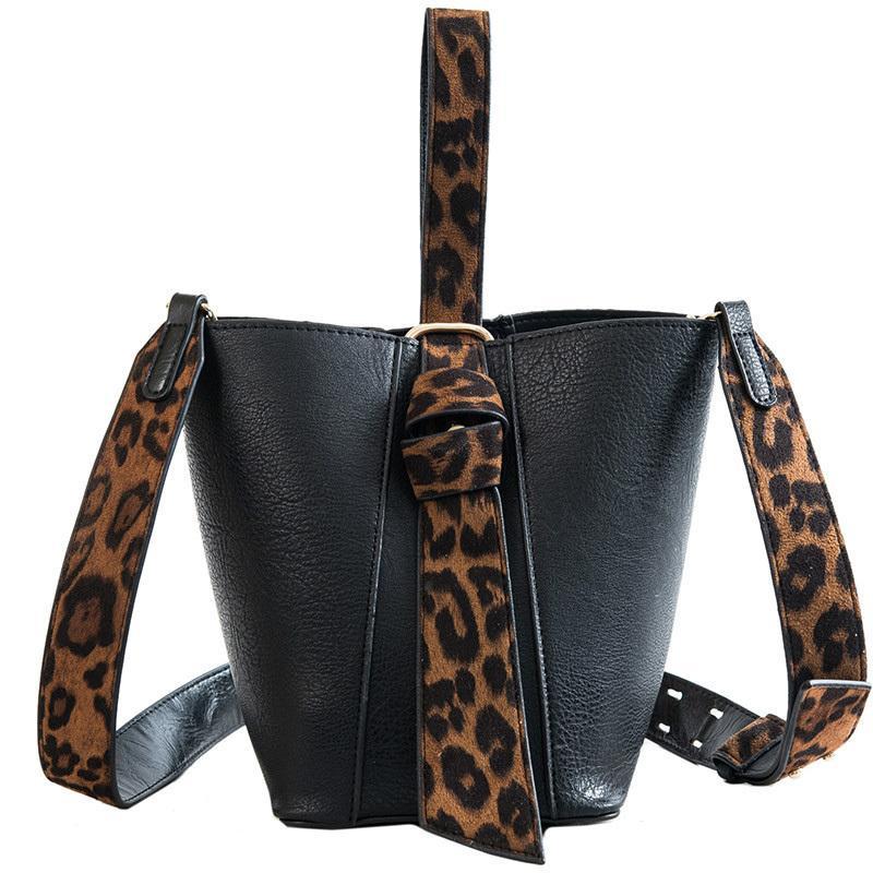 European Retro Fashion Lady Bucket Bag 2019 New Quality Pu Leather Women S  Designer Handbag Leopard Tote Shoulder Crossbody Bag Shoulder Bags Handbags  On ... d5c3183a0243e