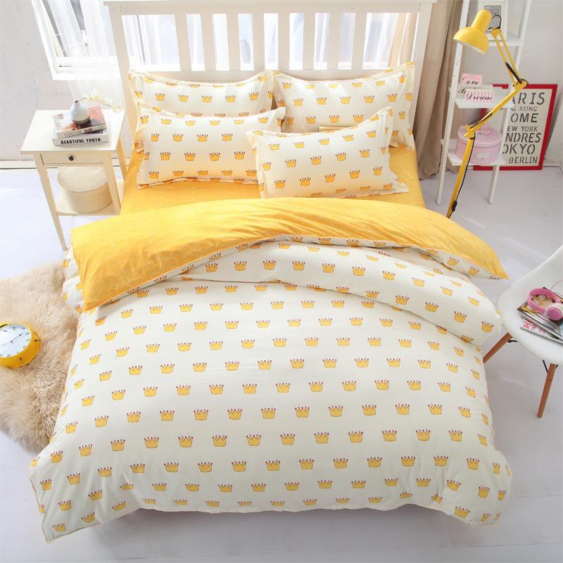 Yellow Cakes Duvet Cover Bed Sheet Pillowcases Set 3 or 4 Pieces Bedding Set for Children Bedroom Decor Comforter Bedding Sets