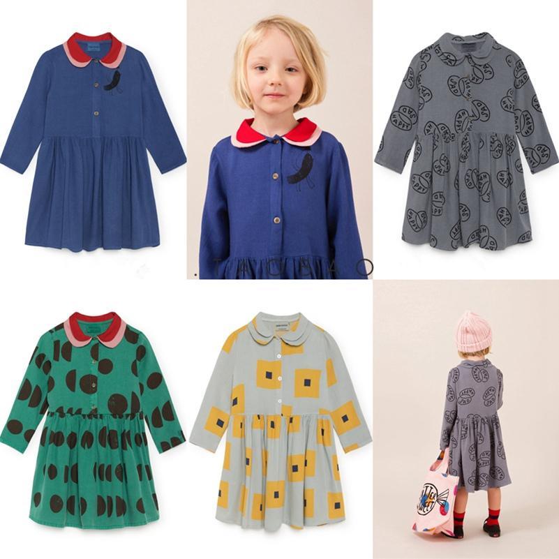 Compre Vestido De Las Niñas 2019 Nuevo Otoño Bobo Choses Botón De Algodón De  Manga Larga Vestidos Fiesta Princesa Vestidos Escuela Niños Ropa A  44.39  Del ... f6c40c6f1b38