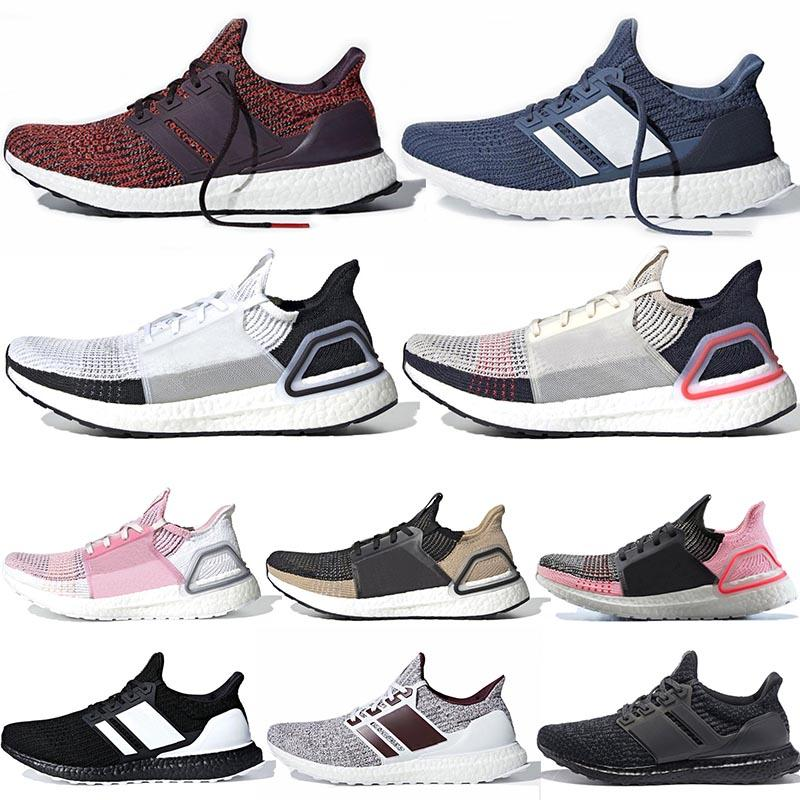 2339a14d8552a 2019 Ultra Boost 19 REFRACT Cloud White Black Mens Womens Shoes ...