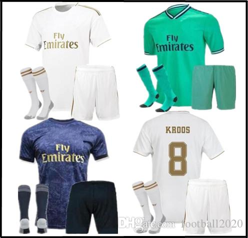 check out 7f9e4 bcb92 Top 2019 2020 Real Madrid Soccer jerseys home and away 19 20 Real Madrid  football shirt fans version sweatshirt tights men s suit
