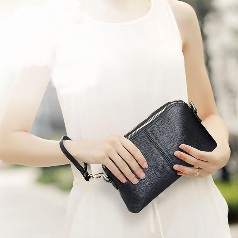 dd9beff4062a Genuine Leather Clutch Bag Luxury Women Handbags Fashion Shoulder Bag  Female Clutch Purse Wallets Party Crossbody Bags Hand Bags