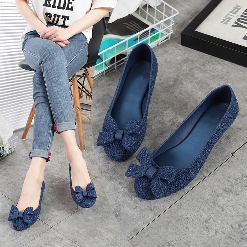 e45e45073ddc Dress Shoes Eoeodoit Wedges Heel Jelly Pumps Women Rain Sandals Med Heel  Round Toe Jelly Bow Slip On 2019 Spring Summer Heels Cute Shoes Green Shoes  From ...