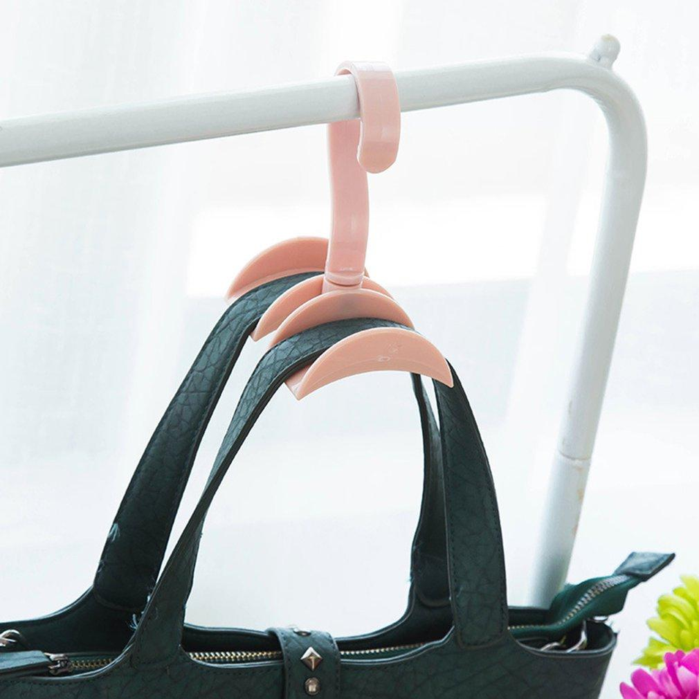 360 Degrees Rotated 1 Hooks Plastic Handbag Clothes Ties Bag Holder Shelf Hanger Hanging Rack Storage Organizer Hooks