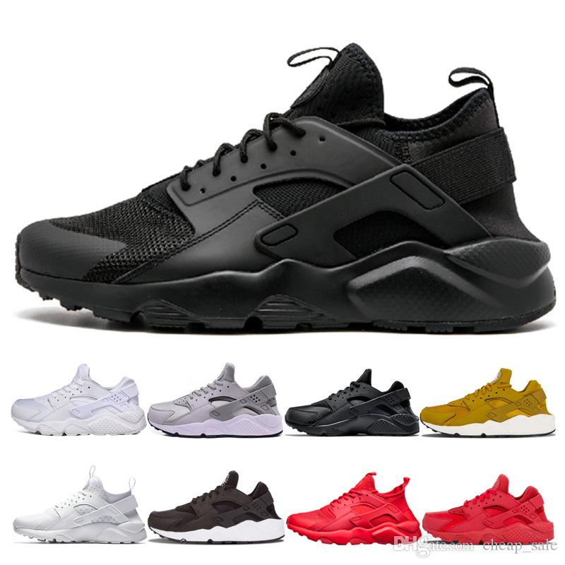 sports shoes 806fc 7663e New Arrive Huarache 4.0 1.0 Red Black Grey Triple White Black Red Mens  Womens Gold Huaraches Sports Trainer Sneaker Running Shoes Running Spikes  Track Shoes ...