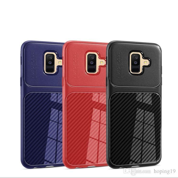 c6fad5c36a2 Forros Para Celular Para Samsung Fundas De Teléfonos J4 J6 J8 J8 Fundas De  Teléfonos Móviles De Fibra De Carbono De Moda TPU De Negocios Contraportada  Shell ...