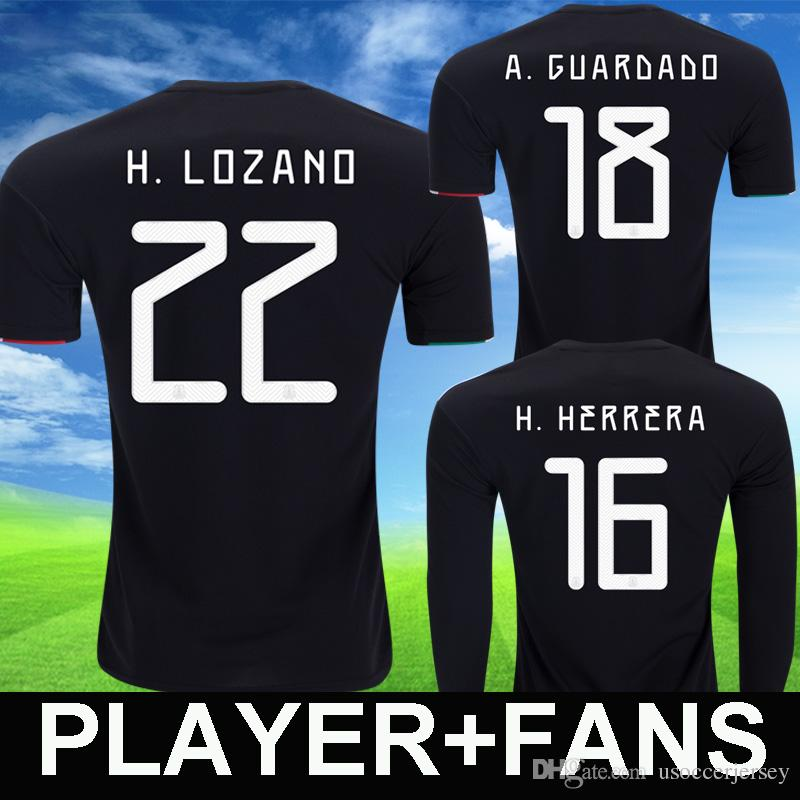 the best attitude 45a25 88b59 2019 mexico soccer jerseys LOZANO CHICHARITO gold cup Player Version  football shirts DOS SANTOS mexico women Long Sleeve JIMENEZ camiseta