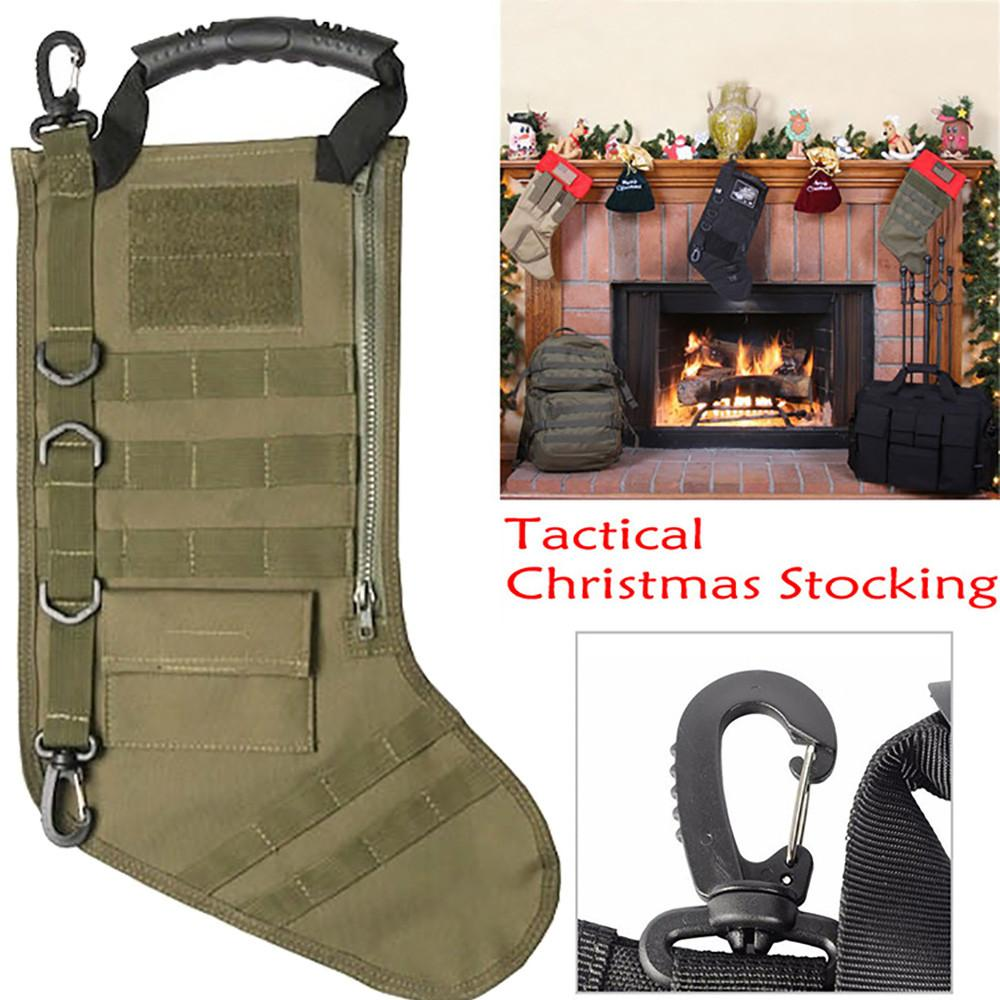 Tactical Christmas Stocking.Tactical Christmas Stocking Molle Christmas Stocking Desert Woodland 2018 New Arrival Hot Sale