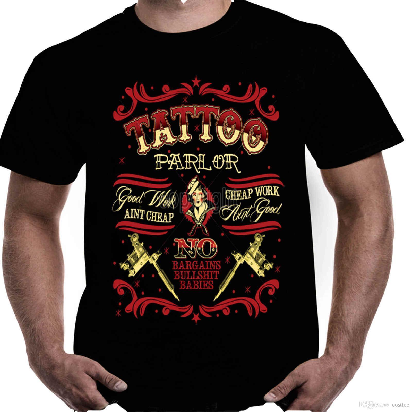 Mens Motorbike Biker Hotrod T Shirt Tattoo Parlour Tattooed ...
