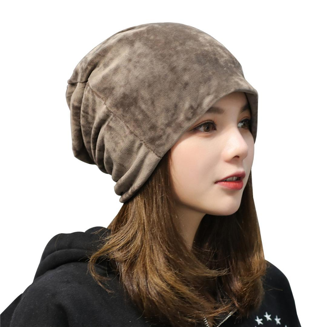 Stylish Ladies Velvet Hat for Women Winter Cap Beanie for Fall ... a0f5c88551