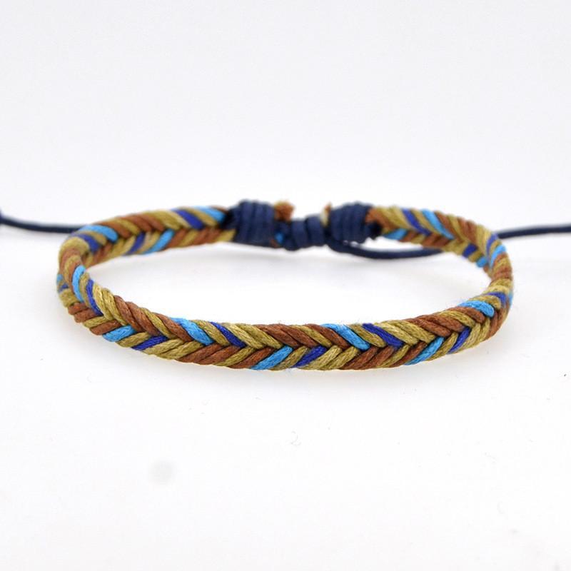 3d02072a3f34c Women Men Handmade Braided Bracelet Cotton Rope Cord Bracelets ...