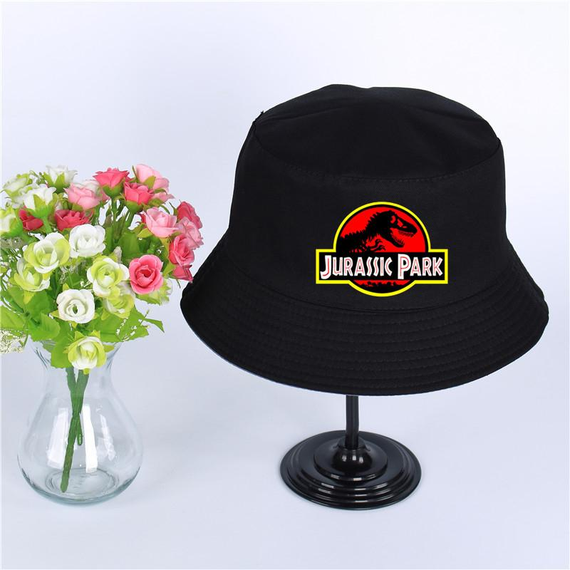 069ff69e1b95c2 Jurassic Park Summer hat men's Panama bucket cap 9 colors Jurassic Park of  the design flat visor fisherman hat wide-brimmed hat