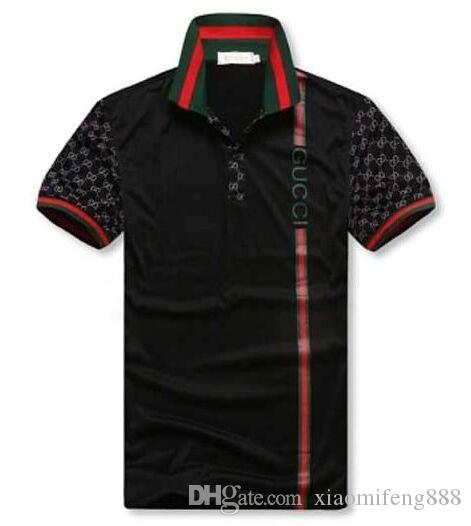 Polo Shirts Mann-Sommer-G G Polo beiläufige Mens-Polo-Hemd lose Art und Weise Breathable Striped Letter Print Mode-Marken-Mann-Hemd