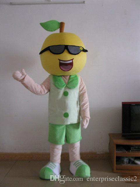 Acquista ragazzo di limone mascotte costumi tema animato uomo di