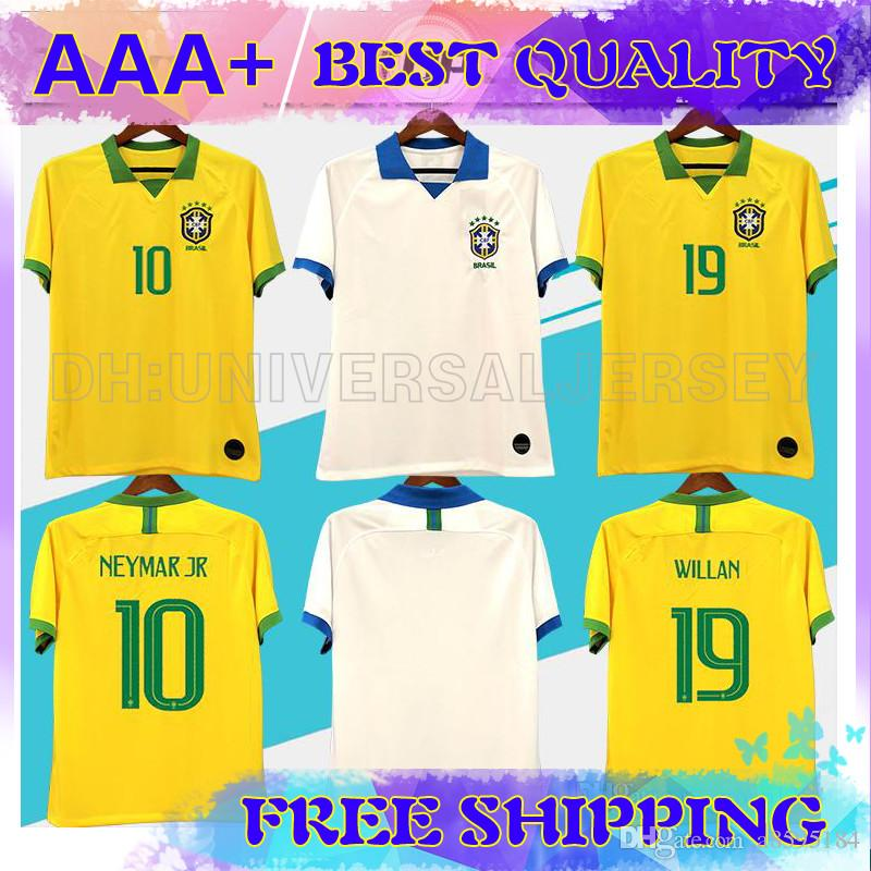 buy popular 160cb 47d9b Brasil American Cup soccer jerseys Brazil MEN Jersey 19 2020 JESUS COUTINHO  FIRMINO MARCELO football kit shirt camisa Football Shirt G.JESUS