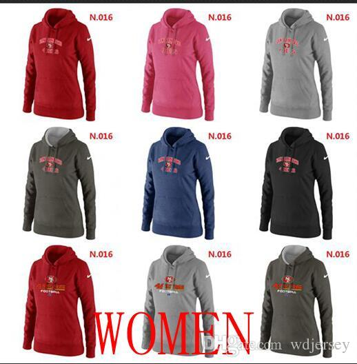 San Francisco 49ers Women Heart Soul Pullover Hoodie Red Pink Bule Black  Lightgrey UK 2019 From Wdjersey 9a29fab08