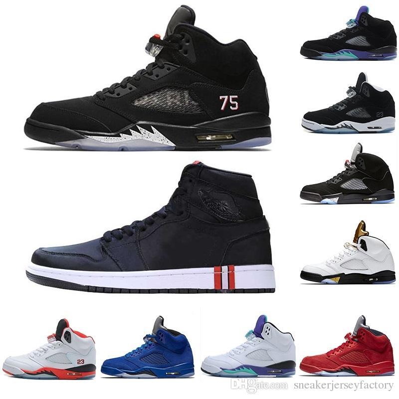 3454b5fa8242e ... cheapest nike air jordan retro 1 psg 5s x bcfc zapatillas de baloncesto  v pares negros