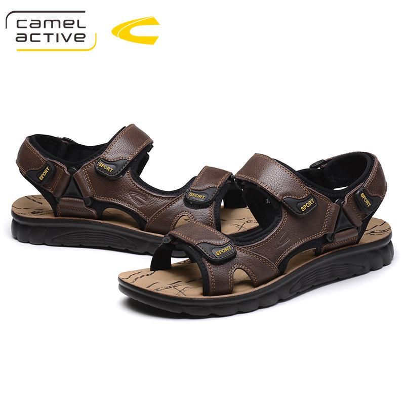 Camel Active New Brand Genuine Leather Shoes Summer New Large Size 44 Sandalias para hombres Sandalias para hombres Moda y zapatillas