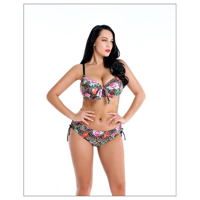 214d532c4 Compre Plus Size Swimwear Swimsut 2019 Chubby Mulheres Tamanho Grande Two  Piece Bikini Set Swimwear Crochet Verão Beach Wear Maiô Maiô De  Carmenleejm, ...