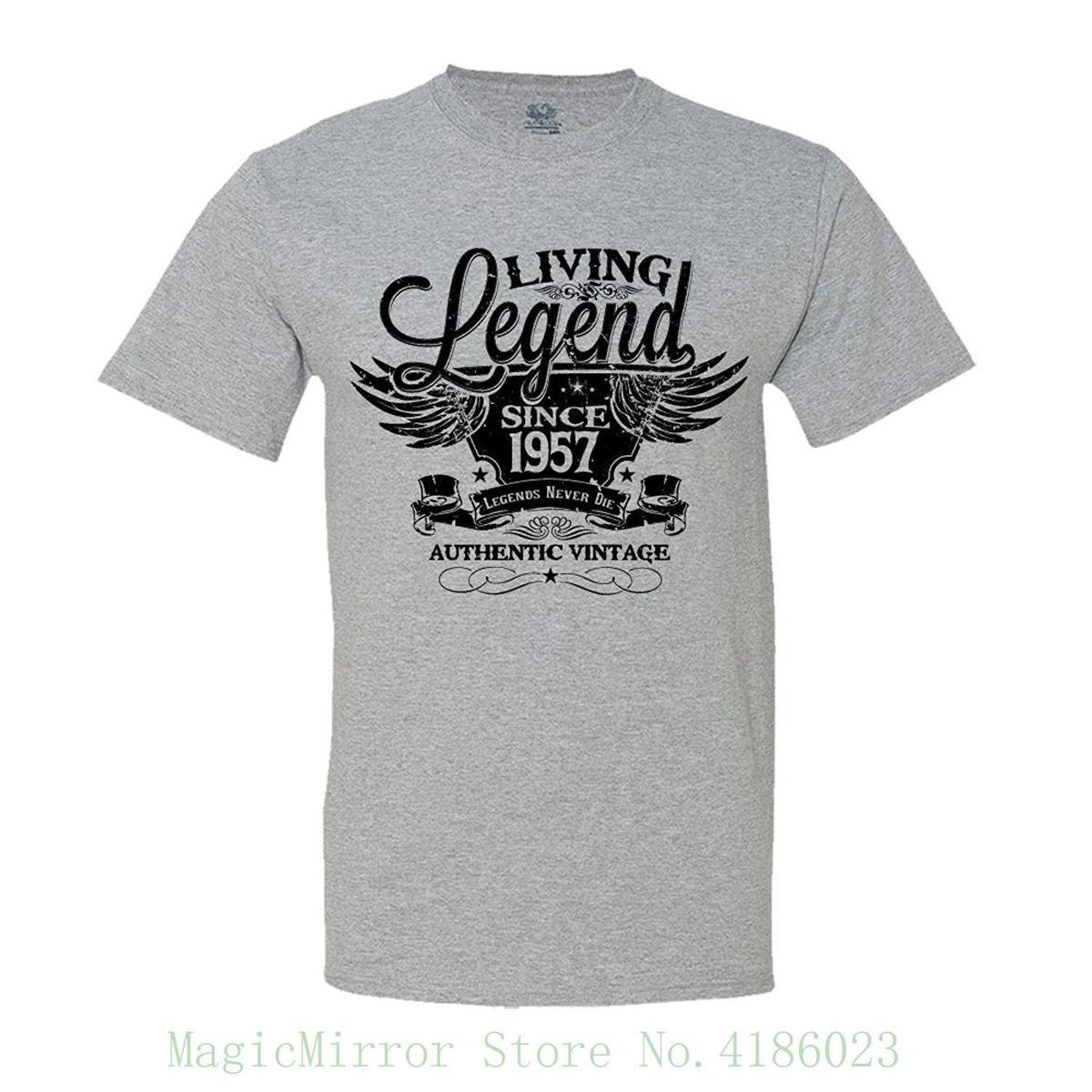 Living Legend Since 1957 60th Birthday Gift T Shirt Vintage Turning 60 Tops Summer Cool Funny Tee From Jie71 1467