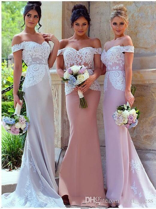 2019 South Africa Style Elegant Mermaid Bridesmaid Dresses Long For Wedding Guest Evening Prom Gowns special occasion dresses