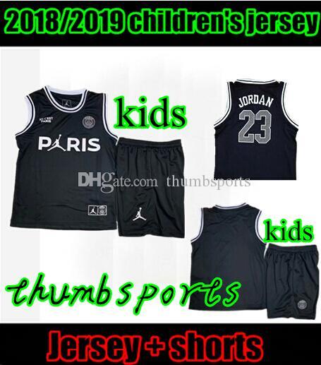 7cbd86796 10 Free DHL!psg Soccer Jersey 18 19 Basketball Clothes Black White ...