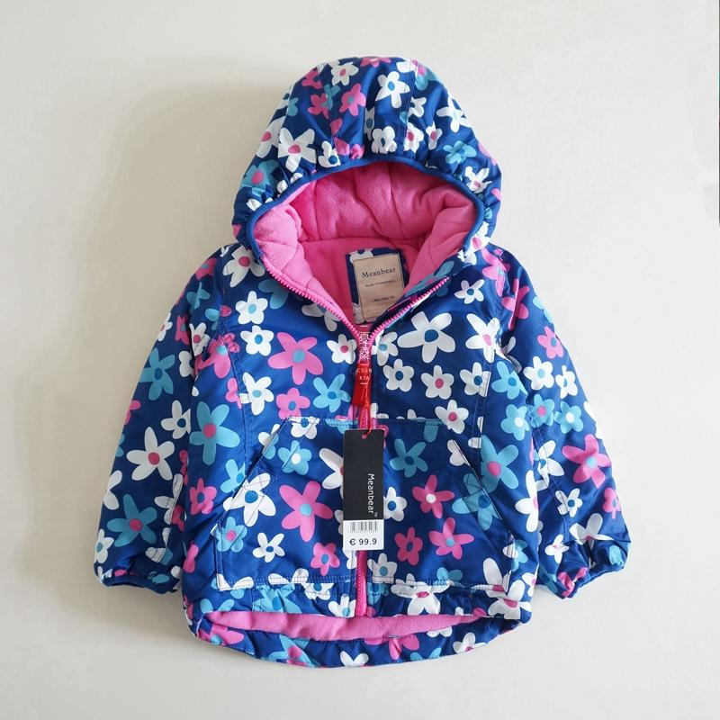 0e2bf5ab2a2a Baby Girls Winter Coat Thicken Flower Coat For Girls Windproof ...