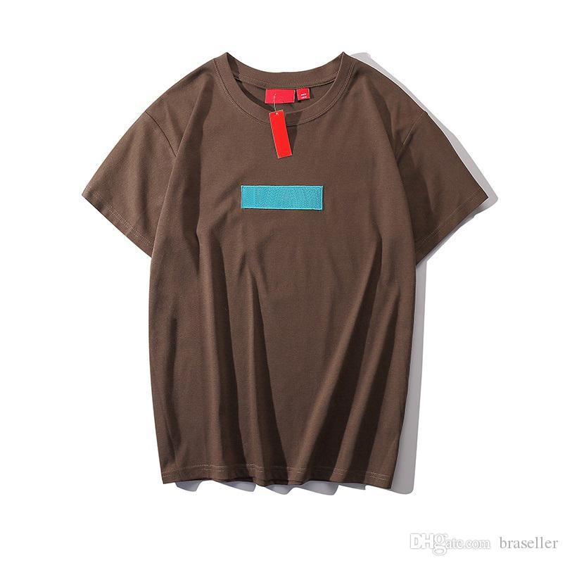 225fb8008 Mens Brand Designer T Shirts Luxury Box Logo Letter Embroidery Print Hip  Hop Street T Shirt High Quality Fashion T Shirt Brand Cotton Tshirt Crazy  Shirt ...