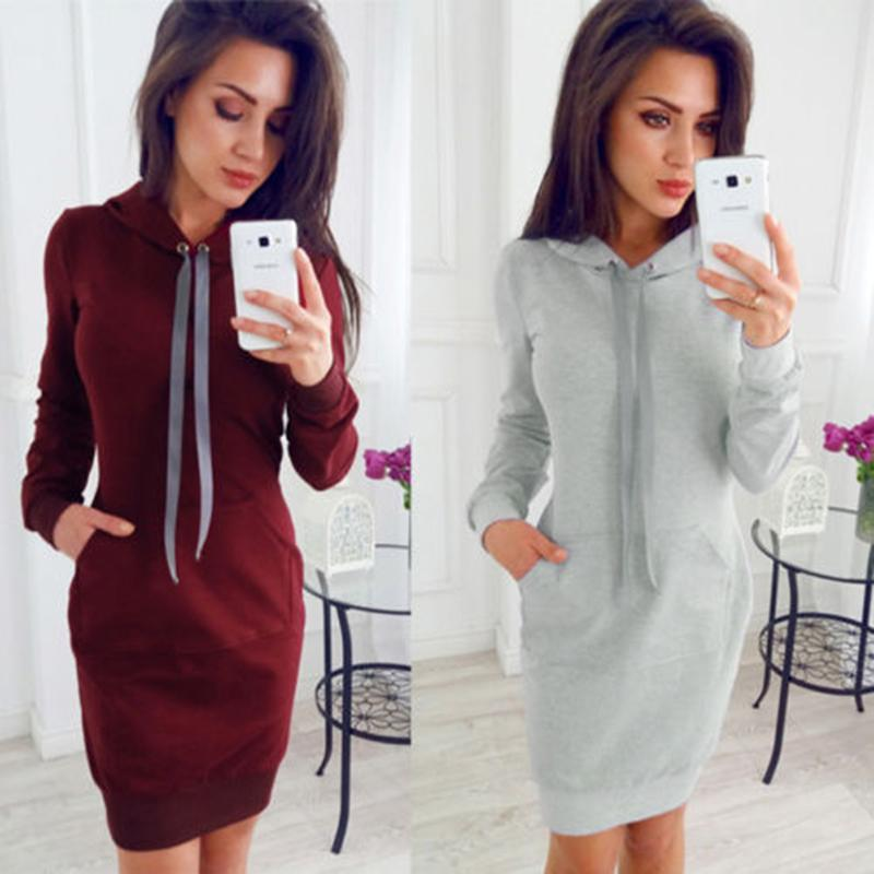 0cf85a88682 Autumn Sexy Lace-up Bodycon Dress Woman 2018 Long Sleeve Casual ...