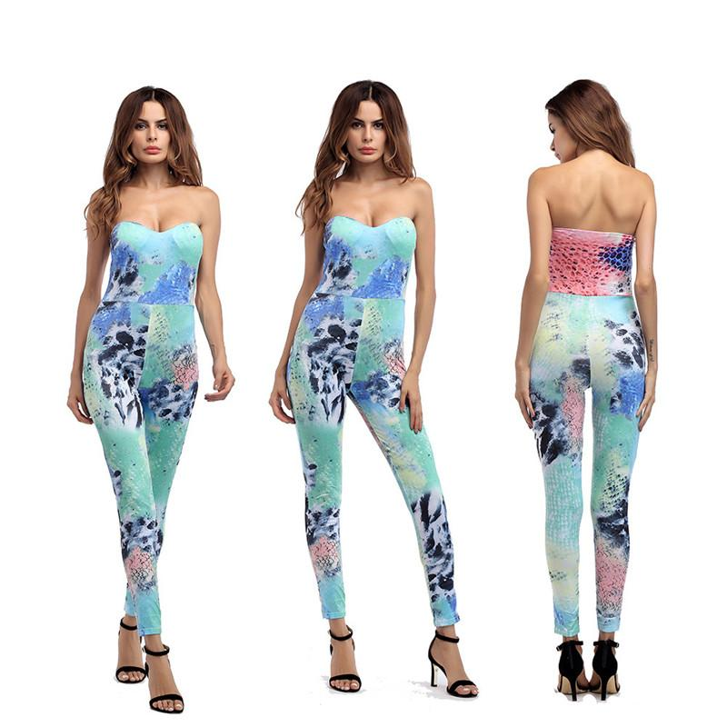 c257e86ced5a 2019 Summer Hot Halter Jumpsuit Bandages Pants Sportswear Women s ...