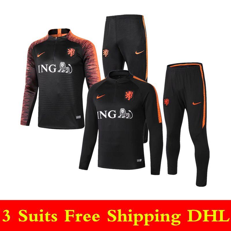 c1fb6e0596e 18 19 Netherlands National Team Soccer Tracksuits Van Dijk Training ...
