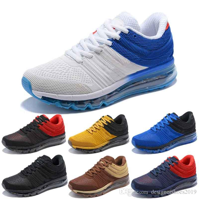 Designer shoes men women Nike 2017 AIR MAX Chaussures Herren Laufschuhe BENGAL Orange Grau Schwarz Gold Schuhe KPU Cushion Sports Sneakers Trainer