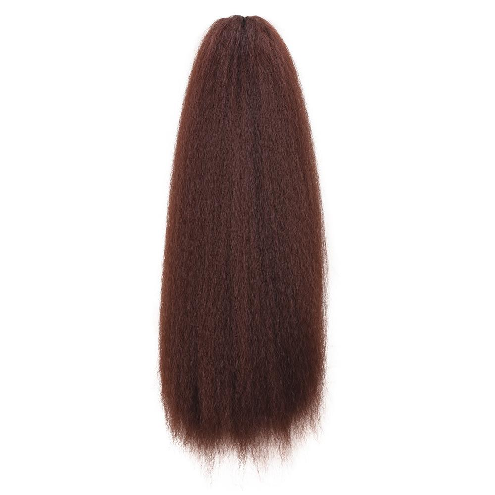 Micro-curly Elastic Net Corn Wigs Horsetail Africa Micro-volume Hot Corn Ponytail Wigs Braid Hair Bundle
