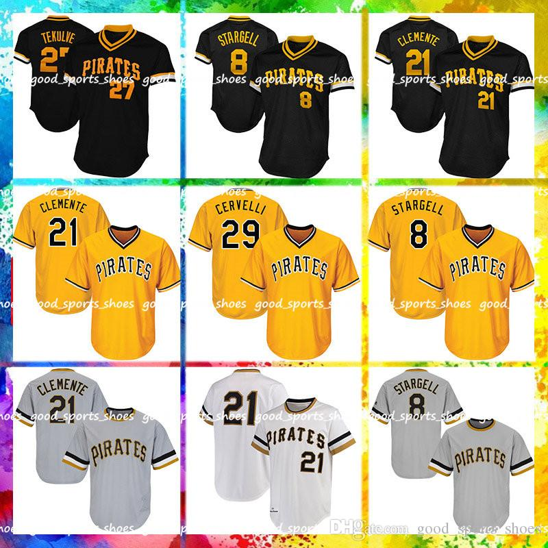 detailed look 114d0 af9cb Pittsburgh Pirates Majestic Coolbase Jersey 21 Roberto Clemente Jersey 8  Stargell Majestic Jersey 22 29 Francisco Cervelli 27 Kent Tekulve