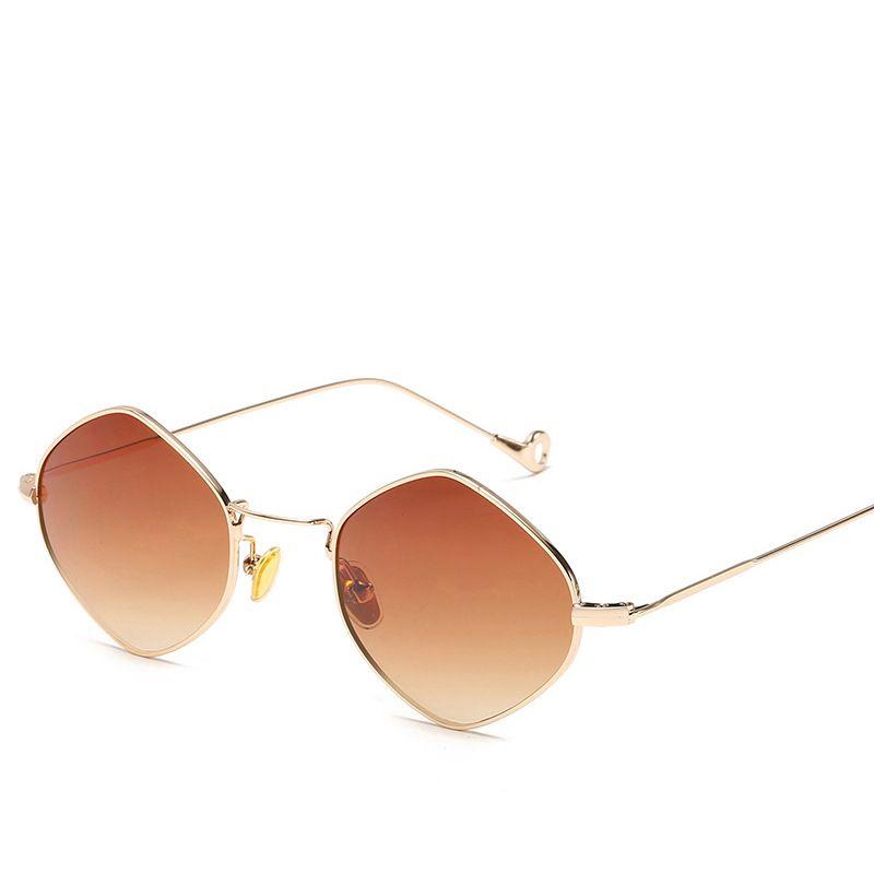 16e4678f78 2019 New Luxury Golden Silver Frame Sunglasses For Men Women Retro Punk  Style Fashion Glasses Good Quality UV Protection Popular Eyewear John  Lennon ...