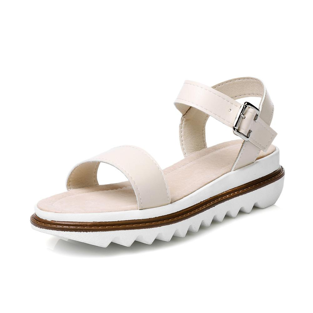 7f458c0ef39eb KEBEIORITY Women Sandals 2018 Casual Simple Girls Summer Shoes Flat Sandals  For Women Sandalias Black Silver Female Discount Shoes Platform Heels From  ...