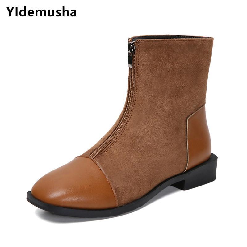 618e77ba119822 Acheter YIdemusha 2019 Nouveau Printemps Hiver Bottes Marque Conception  Bottes En Peluche Chaussures De Pluie Femme En Caoutchouc Solide  Imperméable Femmes ...