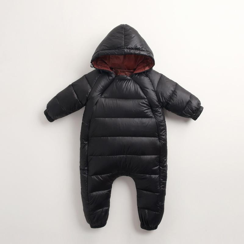 3813c42d7 Baby Girl Winter Coat Kids Warm Jumpsuit Children Zipper Infant Puffer  Overall Newborn Romper Suit Clothing Down Jacket