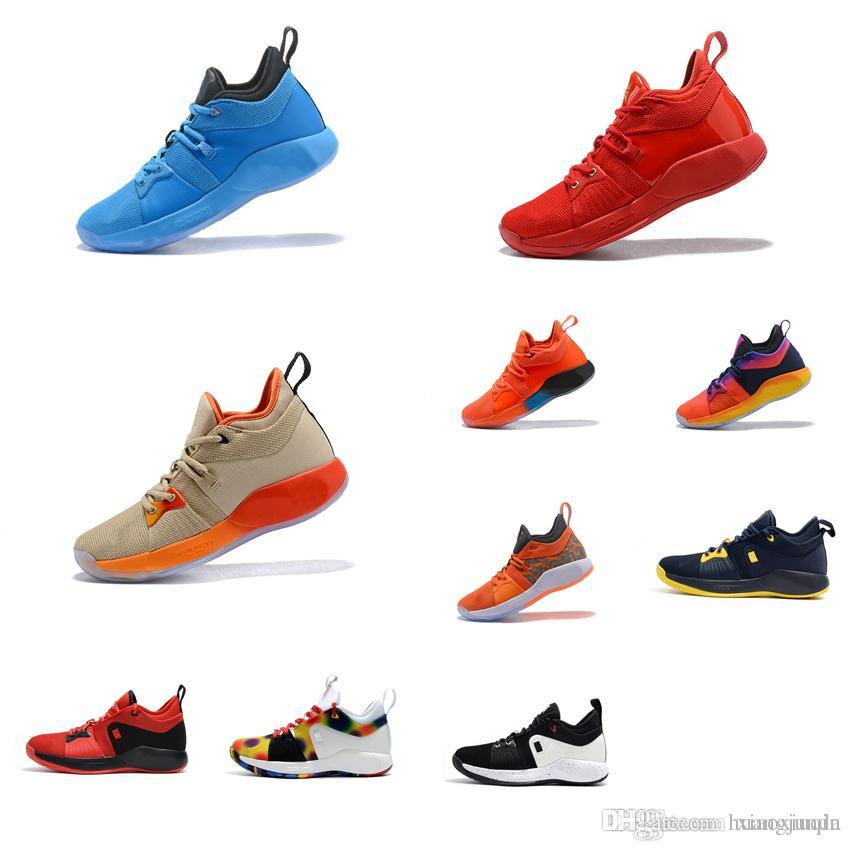 best sneakers 3f79a 7b4a6 Cheap Men Paul George basketball shoes PG2 for sale Royal Blue Red Orange  Gold Playstation new arrival PG 2 elite sneakers tennis with box