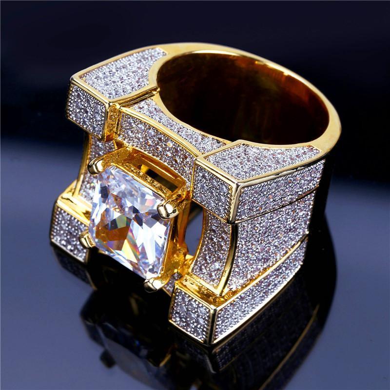 6e663f6c611876 Luxury Brand Classical Rings Men Women Fashion Design Golden Ring ...