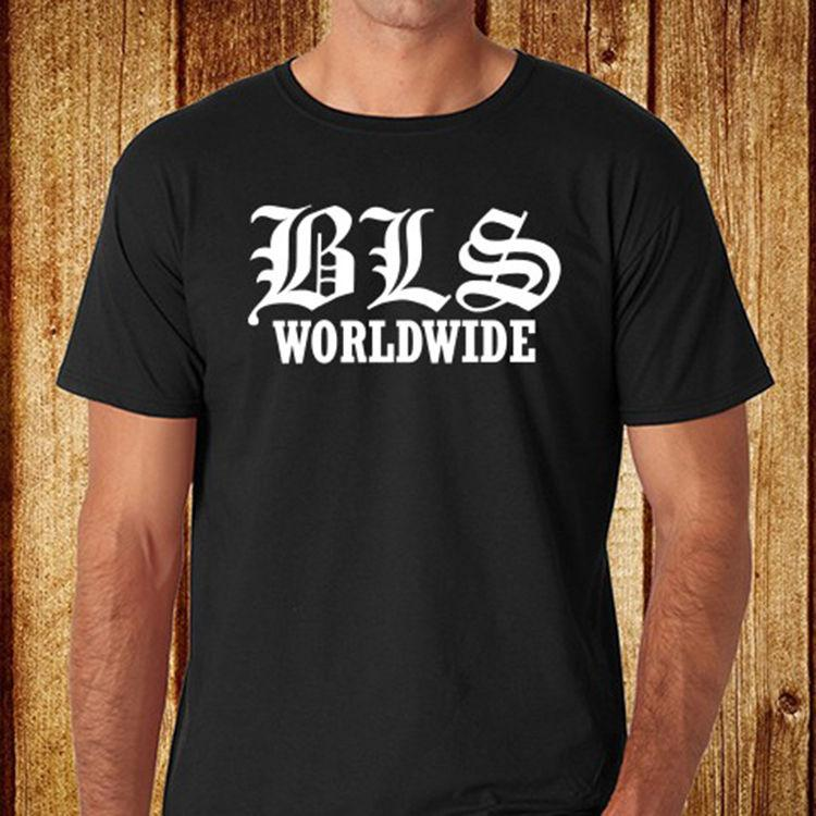 BLS BLACK LABEL SOCIETY Worldwide Men s Black T-Shirt Size S-3XL Free  Shipping