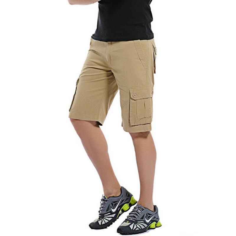 d2a30af177 2019 Cargo Shorts Men Summer Cotton Casual Men Short Pants Brand Clothing  Men Cargo Work Shorts Pant Knee Length From Goodtshirt003, $56.29 |  DHgate.Com