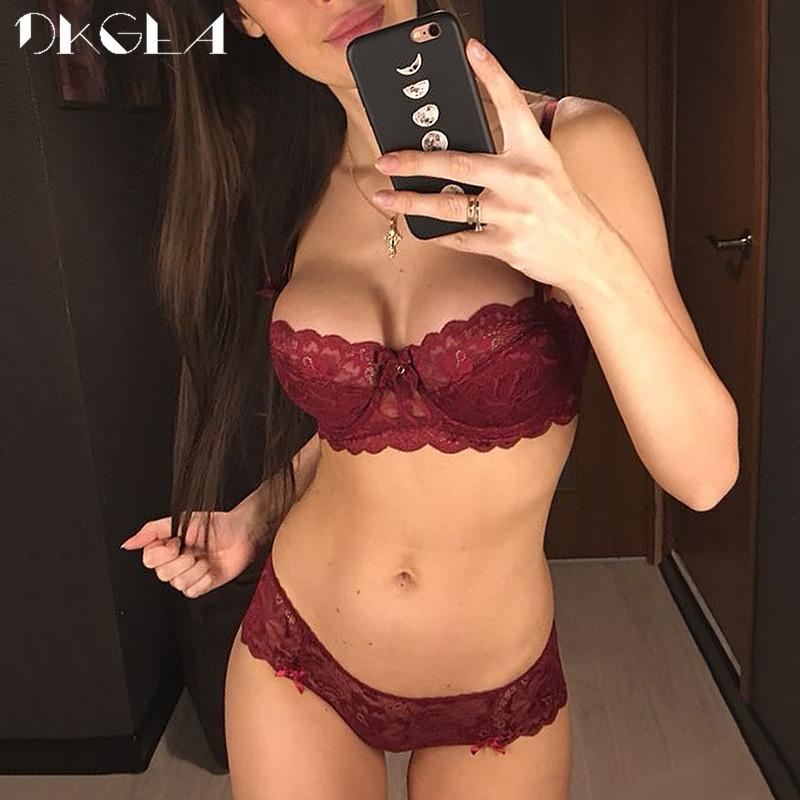 Fashion Sexy Bra Sets Plus Size C D Cup Thin Cotton Underwear Women Set Lace  Comfortable Brassiere Gray Bras Embroidery Lingerie D19011604 Online with  ... d8bdab3ff