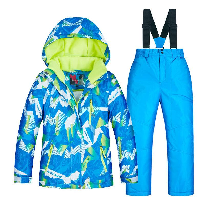 e357ca6a1679 Ski Suit Baby Boy Girl Clothes Warm Waterproof Windproof Snowboard ...