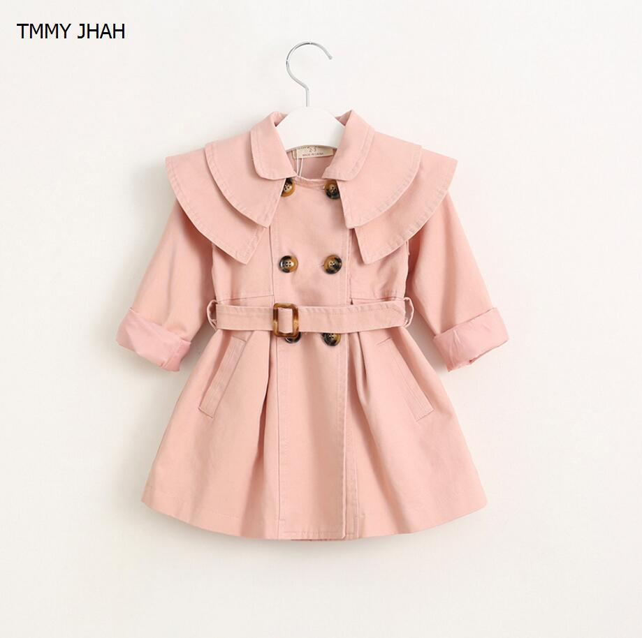 fdb4a1efd New 2019 Spring Girls Jacket Children S Clothing Girl Trench Coat ...