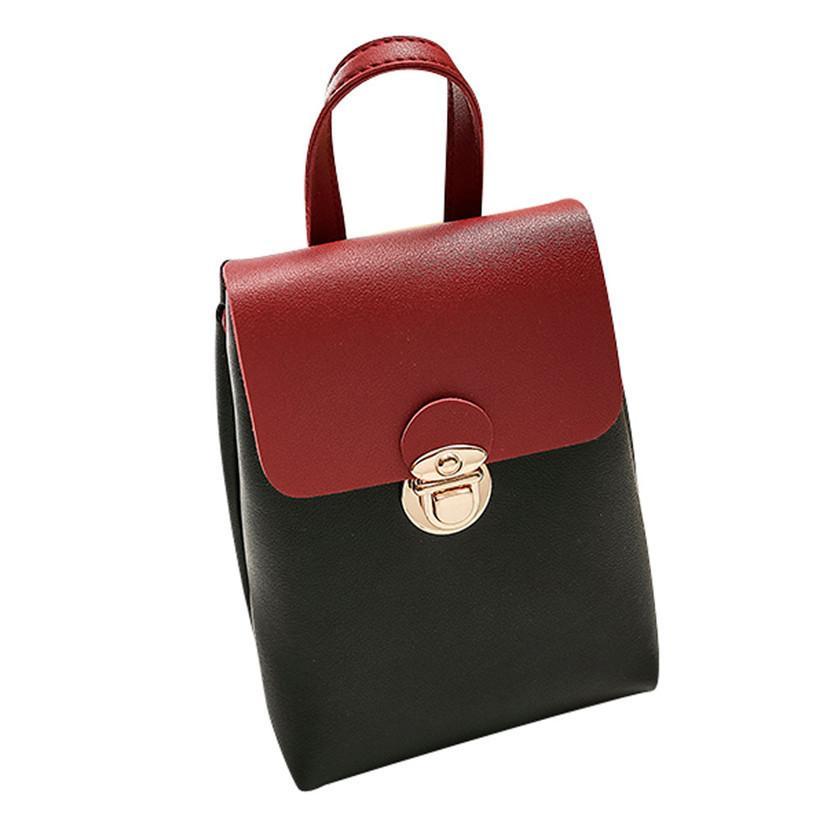 4af058f39dcc Cheap 2018 New Arrivals Summer Women Hit Color PU Leather Shoulder Bag  Messenger Satchel Tote Crossbody Bag Phone Bag Bolsas Feminina Fiorelli  Handbags ...